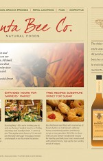 Web Site, Corporate Identity and Packaging Design for Atlanta Bee Co. Honey