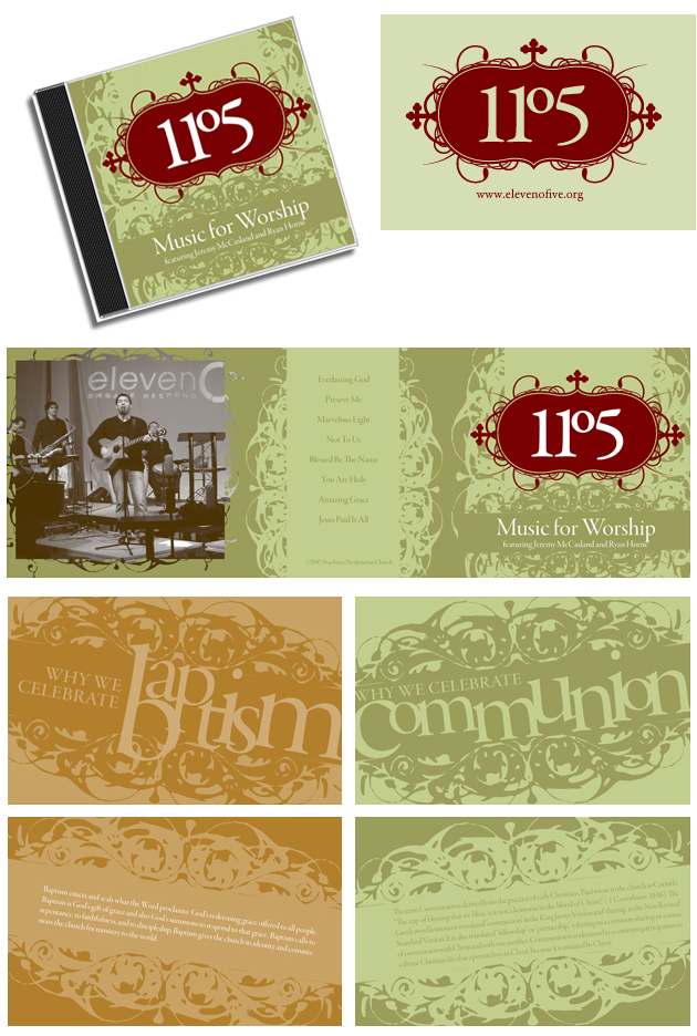 Student Branding Platform for Church - CD Insert and Postcards