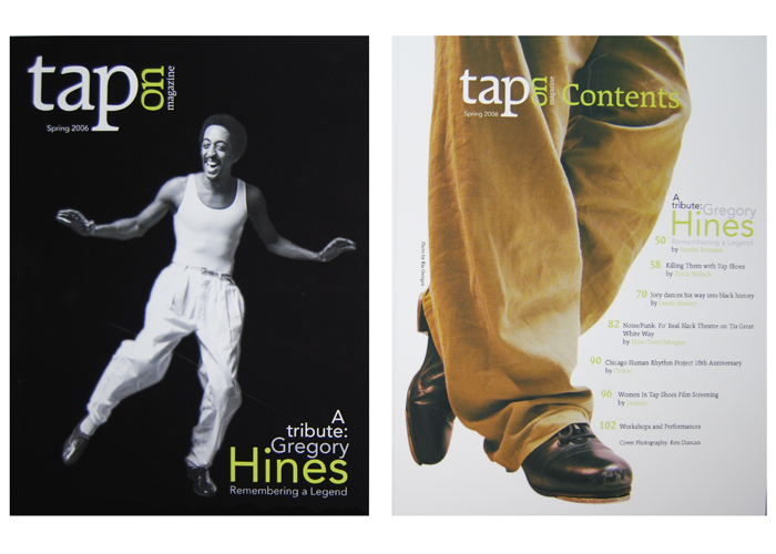 Cover and Table of Contents - Taps magazine