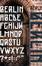 Sample of the Berlin typeface