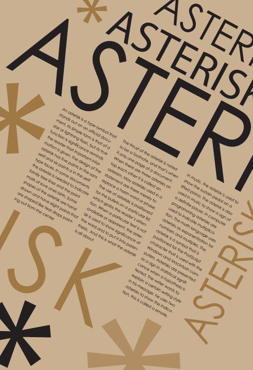 Typographic Poster - Terrendus Weaver