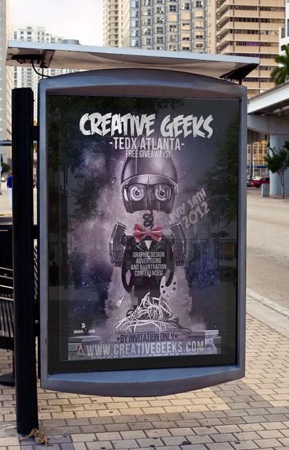 Bus Stop Poster for TEDx Atlanta
