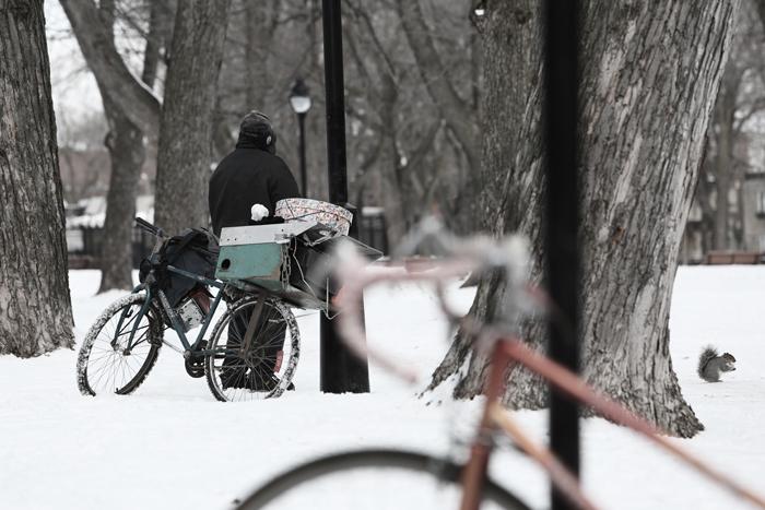 Homeless Man in Devou Park, 2013